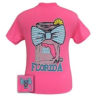 Girlie Girl Originals Florida Chevron Mason Jar Preppy State Bow Bright T Shirt