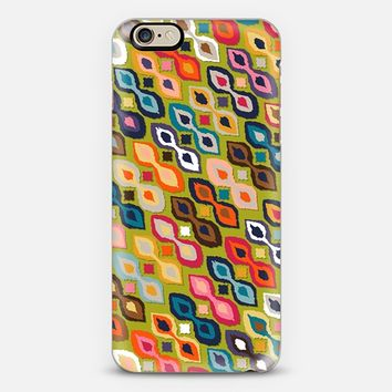 carnival ikat lime iPhone 6 case by Sharon Turner | Casetify