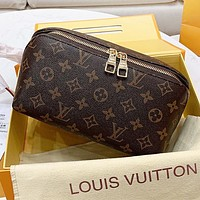 LV Louis vuitton New fashion monogram tartan leather handbag cosmetic bag
