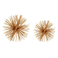 Spikes Ball Gold (Set Of Two)