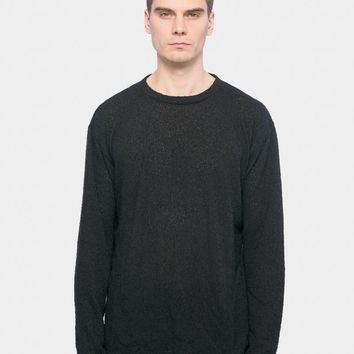 Pigtail Crew Sweater in Black