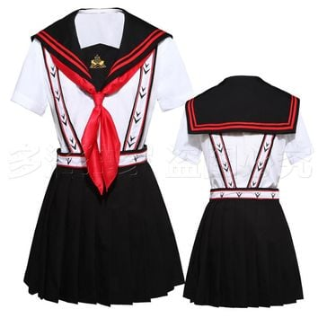 Japanese Anime Free Iwatobi Swim Club Gou Matsuoka Cosplay Costume High School Uniform top+Strap dressfor Girls