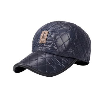 Shade Hat Winter leather cap warm hat baseball cap with ear flaps flat top caps for men