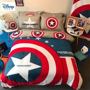 Cool disney marvel the avengers beddings 3d comforter set single queen king size boy adult the Avengers gift duvet cover pillow casesAT_93_12