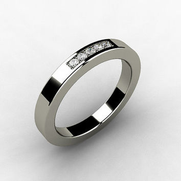 Diamond ring, Titanium, wedding band, promise ring, womens titanium band, wedding ring, titanium engagement, Diamond, thin
