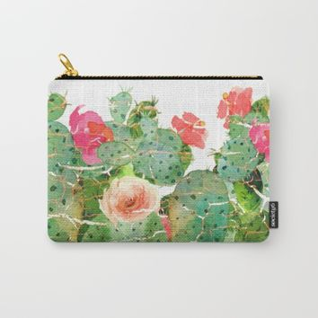 scratched cactus Carry-All Pouch by clemm