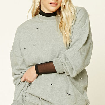 Distressed Oversized Sweatshirt
