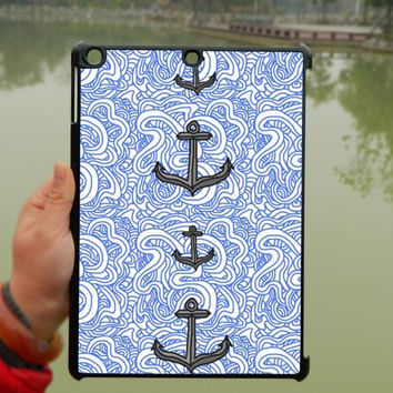 Anchor Blue flower Patterns iPad Case,iPad mini Case,iPad Air Case,iPad 3 Case,iPad 4 Case,ipad case,ipad cover, ipad mini cover ipad air,iPad 2/3/4-122