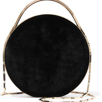 Eddie Borgo - Chet Minaudiere leather-trimmed velvet shoulder bag