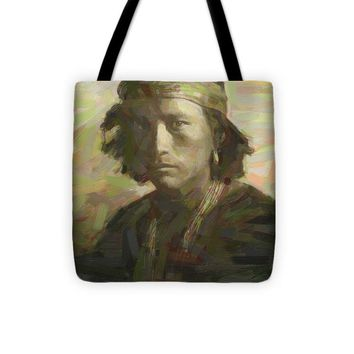 Portrait Of A Navajo Youth 1 - Tote Bag