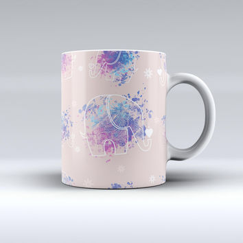The Fun Sacred Elephants ink-Fuzed Ceramic Coffee Mug