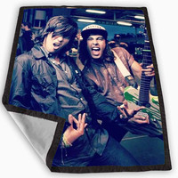Kellin Quinn and Vic Fuentes Blanket for Kids Blanket, Fleece Blanket Cute and Awesome Blanket for your bedding, Blanket fleece **