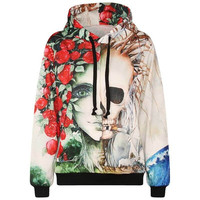 FLASH SALE - Smoking Skull Hoodie, Super Cool, All Sizes