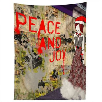 Holiday fashion illustration wall tapestry
