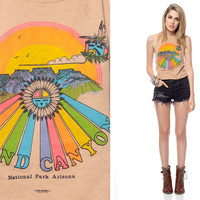 Side Cut Tank Top GRAND CANYON 80s Cropped Shirt by ShopExile