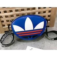 Adidas sells big logo, fashionable women's matching color small purse, one-shoulder bag