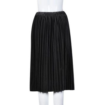 Retro Velvet Skirt Pleated Elegant Women Long Warm Skirt Lady Office Warm Winter Skirt Saia Longa Cintura Alta#212