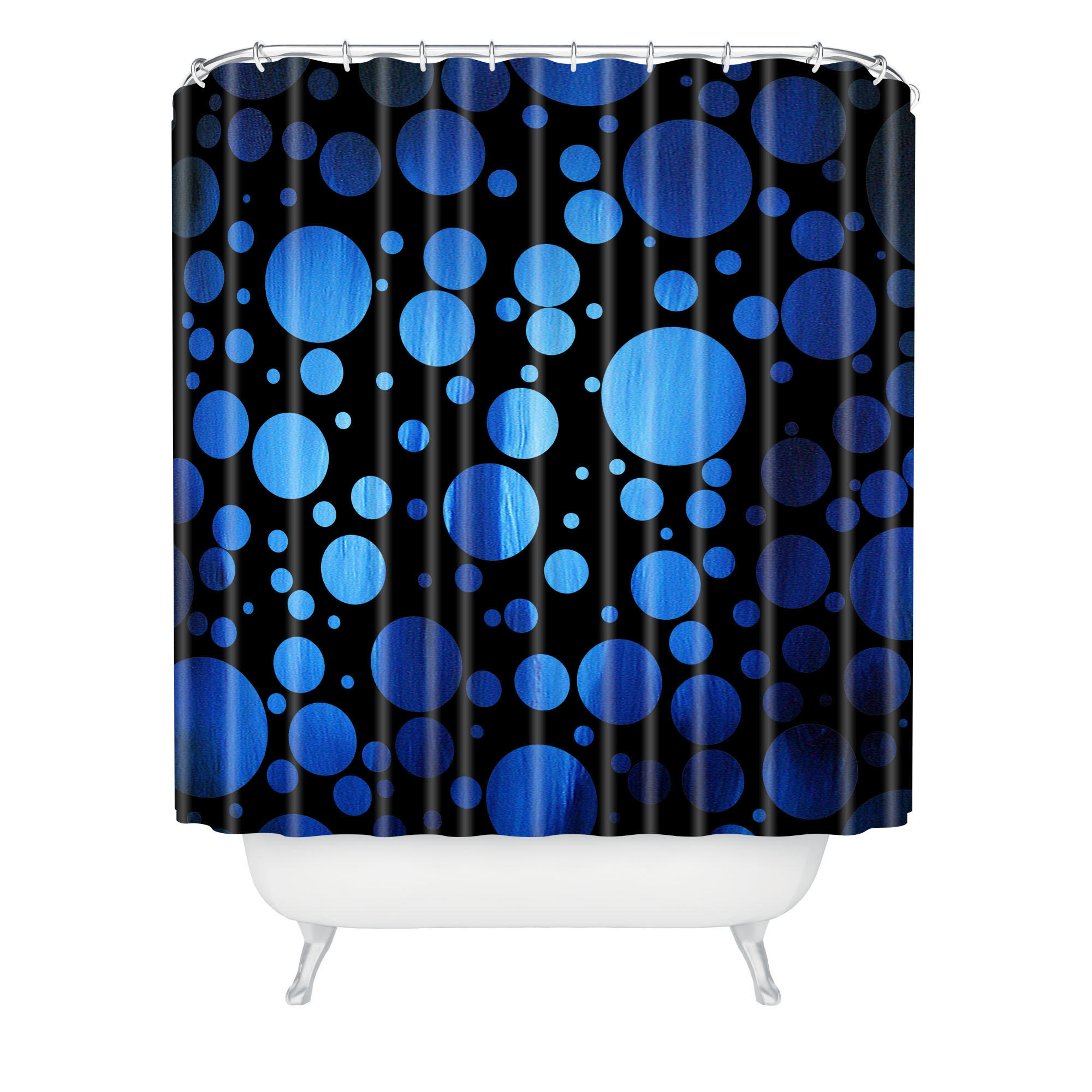 pics photos royal blue polka dot shower curtain jpg