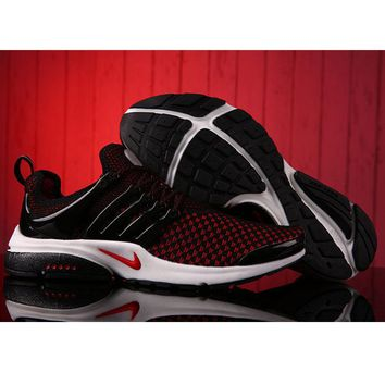 NIKE Men Fashion Running Sport Casual Shoes Sneakers Black Red G-MDTY-SHINING