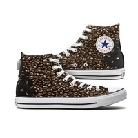 Coffee Bean Converse High Top Custom Chucks