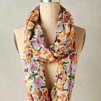 Infiorata Infinity Scarf by Anthropologie in Orange Size: One Size Scarves