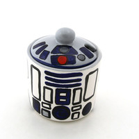 Star Wars (R) Inspired Funny Sugar Bowl for Sci Fi Fan, Geek, Droid Lover