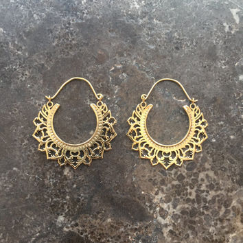 Filigree Hoop Earrings/Pendants