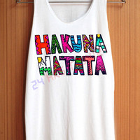 HAKUNA MATATA Shirt The Lion King Animal Shirt Top Tank Top Tee Tunic Singlet Women