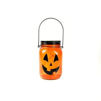 "6"" LED Light-Up Jack-O-Lantern Jar"