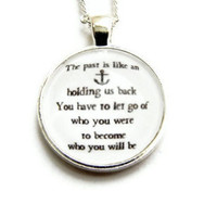 Anchor Nautical Quote Necklace Sex and the City Carrie Bradshaw