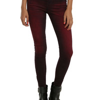Blackheart Red Wash Super Skinny Jeans