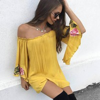 Sunflower Boheme Mini Dress