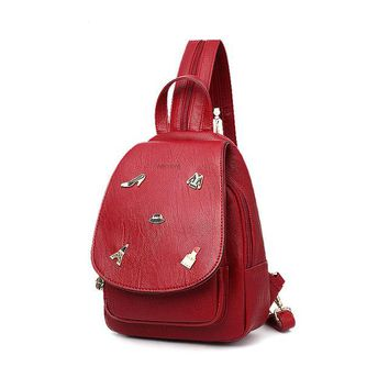 University College Backpack WE MORE Women Cost-effective  Vintage  Student School  High Quality PU Leather Cover sAT_63_4