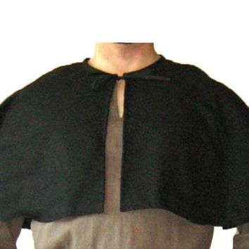 Medieval Period Men Shawl Viking Warrior Monk Capelet Aristocrat Cavalier Knight Cape Cosplay Costumes Renaissance