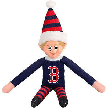 Boston Red Sox Holiday Christmas Team Elf with Santa Hat n Shirt MLB