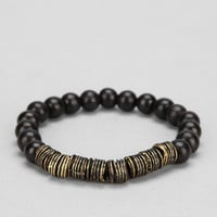 Wood And Metal Bracelet - Urban Outfitters