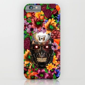 Sugar Chrome skull terminator face iPhone 4 4s 5 5s 5c, ipod, ipad, pillow case and tshirt iPhone & iPod Case by Three Second