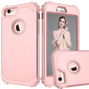 360 Shock Armor Case For iPhone 7 6 6S Plus Fundas High Quality Durbale 3 in 1 Hybrid PC + TPU Back Cover Anti-Knock Phone Cases