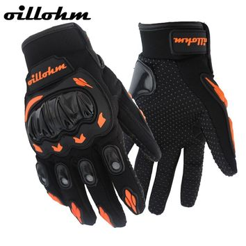 HOT SALE !  Full Finger Motorcycle Gloves Motocross Orange Color Guantes Moto Cycling Motocross Gloves Guantes Ciclismo