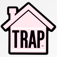 Stickie Bandits Trap Pink House Sticker | Zumiez