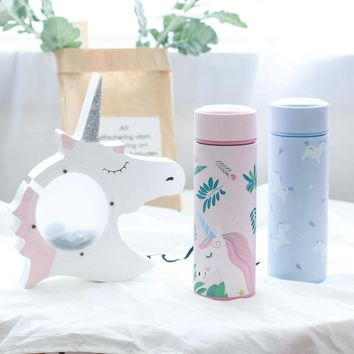 Pink Unicorn Stainless Steel Coffee Travel Mug Portable Vacuum Flasks Thermos Thermal Water Bottle for Tea Car Cup, 350, 500ml