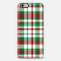 Christmas Plaid iPhone 6s case by Lisa Argyropoulos | Casetify