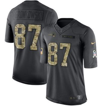Men's New England Patriots Rob Gronkowski Nike Anthracite 2016 Salute to Service Jersey