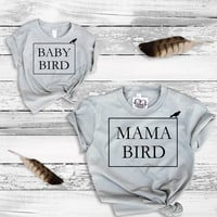 Mommy and Me Mama Bird and Baby Bird Tee T Shirt