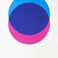 Circles – Blue and Pink - hand-pulled screen print
