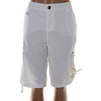 Style & Co. Womens Plus Tummy Control Flat Front Bermuda, Walking Shorts