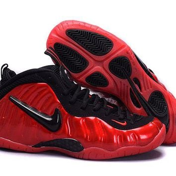 Jacklish Nike Air Foamposite Pro Red Black Girls Size For Sale