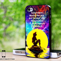 Case iphone 4 and 5 for The Little Mermaid Galaxy Quotes