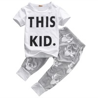 Baby Boys Clothes T-shirt Tops+Long Pants 2PCS Outfit sets