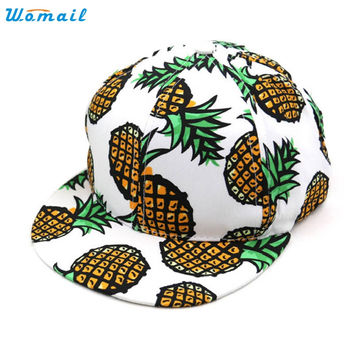 Trendy Style New Fashion Spring And Summer Pineapple Snapback Bboy Hat Adjustable Baseball Cap Hip-hop Hat Unisex Hat Gift 1PC